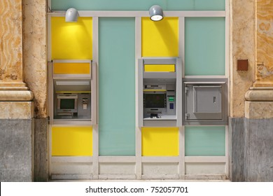 Two Bank ATM in Window