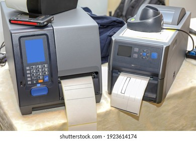 Two Barcode Label Printers Equipment for Distribution Warehouse