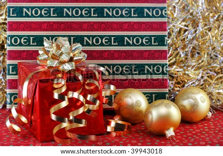 Two Beautiful Christmas Gifts Shiny Ribbons Stock Photo (Edit Now ...