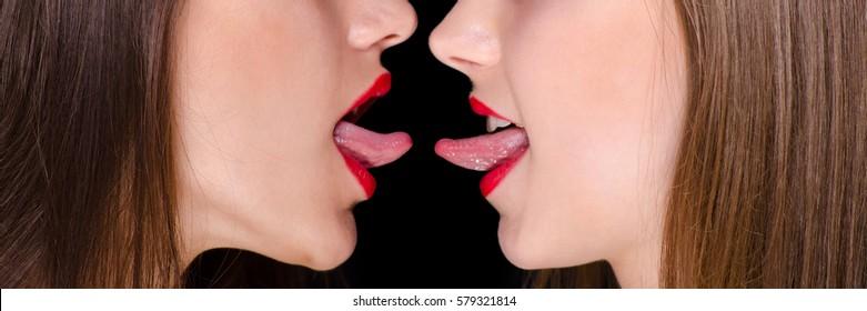 Tongue riding lesbian