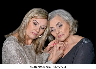 two beautiful mature women