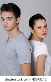two beautiful models