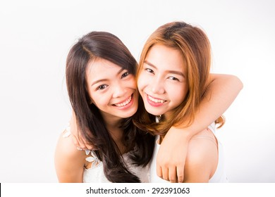 two beautiful Thai girls in studio