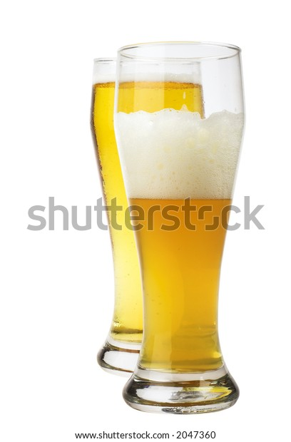Two beer mugs.