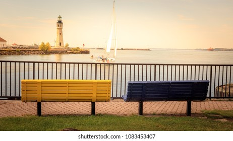 Two benches in Buffalo