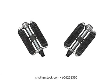 Two bicycle pedals isolated on white background