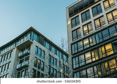 two big apartment houses at berlin