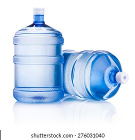 Two big bottle of water isolated on white background