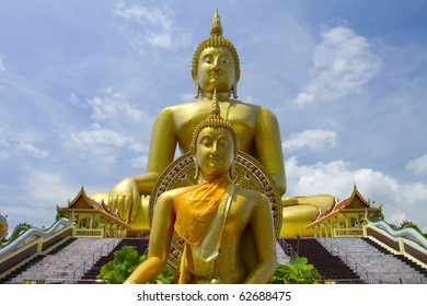 Two big statue image of buddha