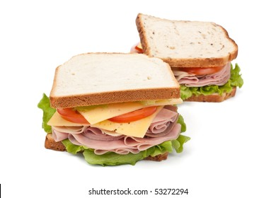 two big tasty sandwiches