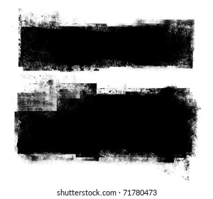 two black grunge banners.
