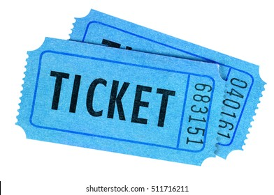 Two blue tickets