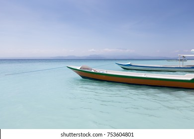 Two Boats in Nusa Penida, Indonesia