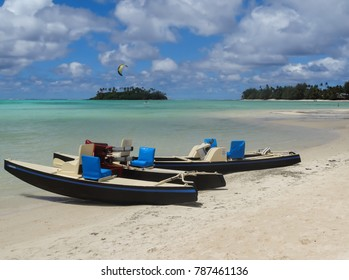 Two boats on the beach