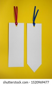 Two bookmarks on a background