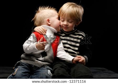 Two Black Boys Kissing