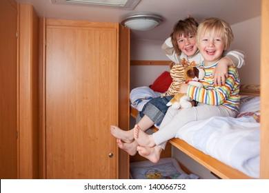 Two Boys In A Caravan