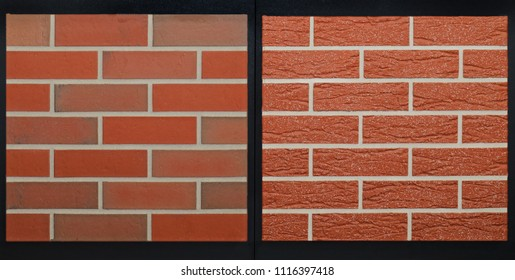 Two brick wall patterns texture backgrounds