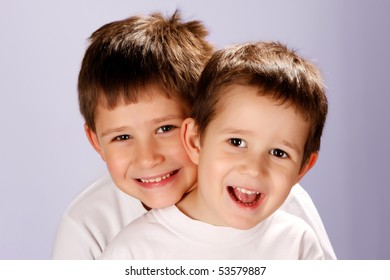 two brothers smiling