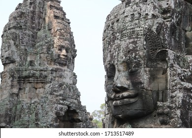 Two Buddha Faces in Cambodia