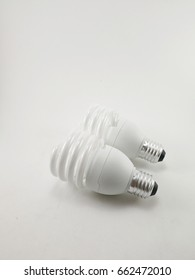 Two bulbs on a white background.