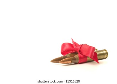 two bullets wrapped as a gift
