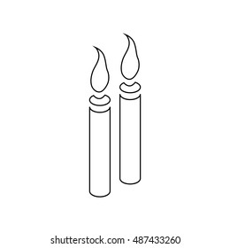 Candle Outline Images Stock Photos Amp Vectors Shutterstock