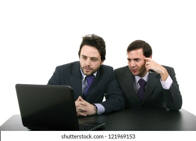 Two business men with laptop computer