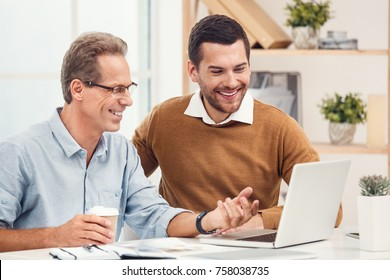 Two business men together in the office