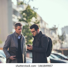 Two business people On the way to office