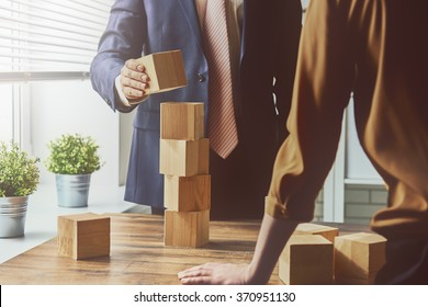 two business persons plan a project
