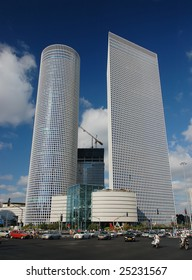 Two business towers and shopping center in Tel-Aviv