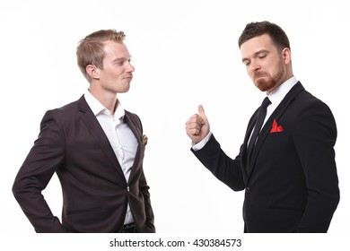 two businessmen in a meeting