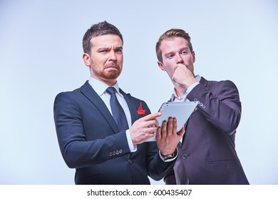 two businessmen in the negotiations at the meeting