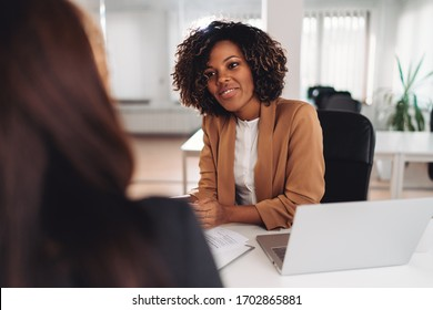 Two businesswoman having a meeting