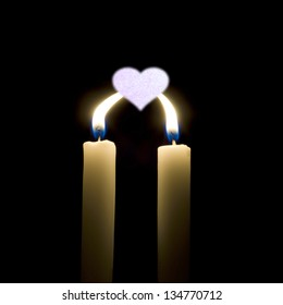 Two candles for one heart