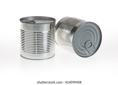 Two cans on a white background isolated