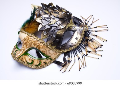 Two carnival mask