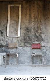 two chairs in the abandoned house