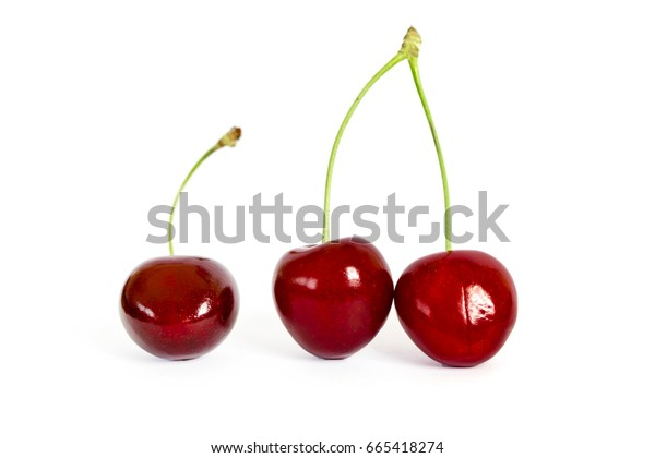 Two cherries on stalk