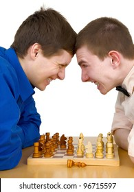 The two chess players in the opposition