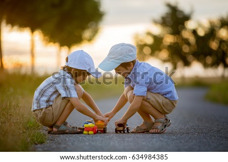 Two children boy brothers