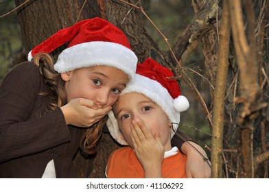 two children think they hear santa