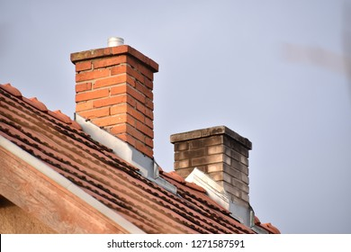 Two chimneys on the house