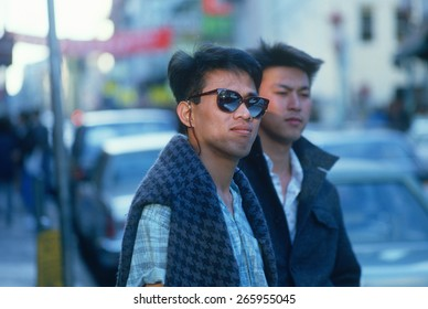 Two Chinese-American men in Chinatown, San Francisco, CA