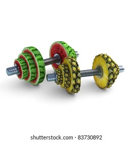 Two chrome dumbbells