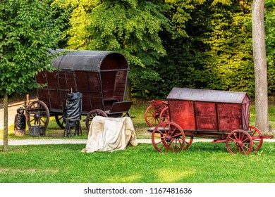 Two Chuck Wagons in the Garden