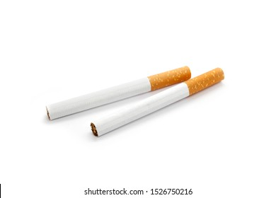 Two cigarette isolated on white background