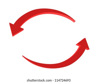 Two circular arrows