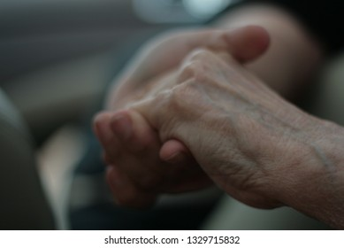 two clasped hands